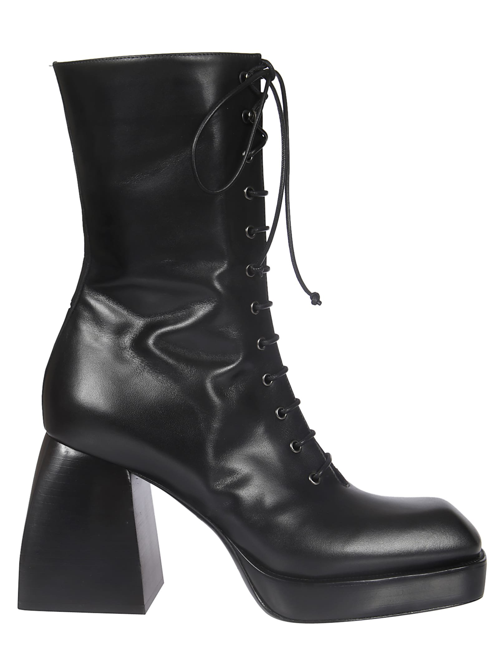 Nodaleto Block Heel Laced-up Boots