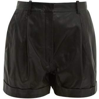 Goldmine High Rise Leather Shorts - Womens - Black