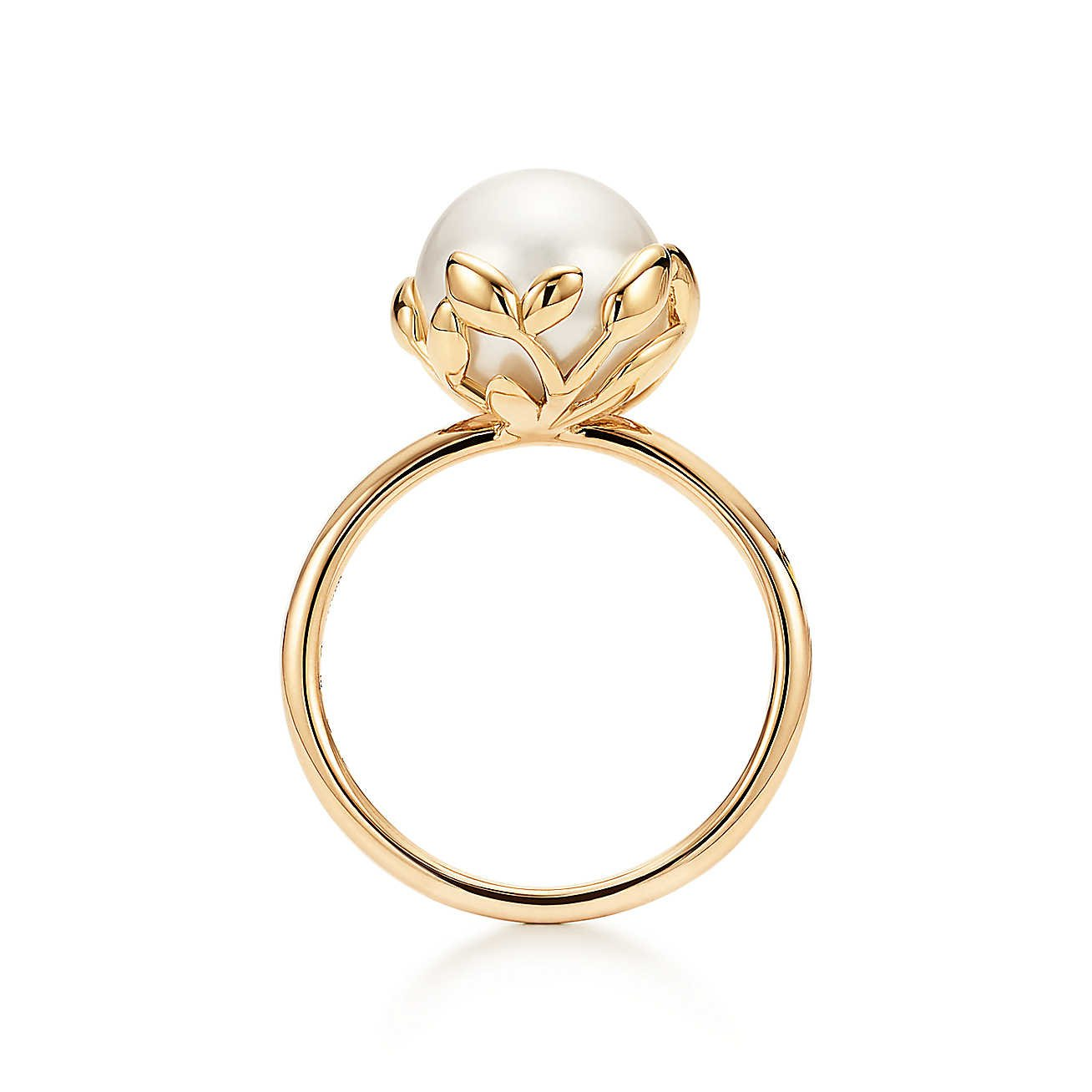 paloma picasso olive leaf pearl ring