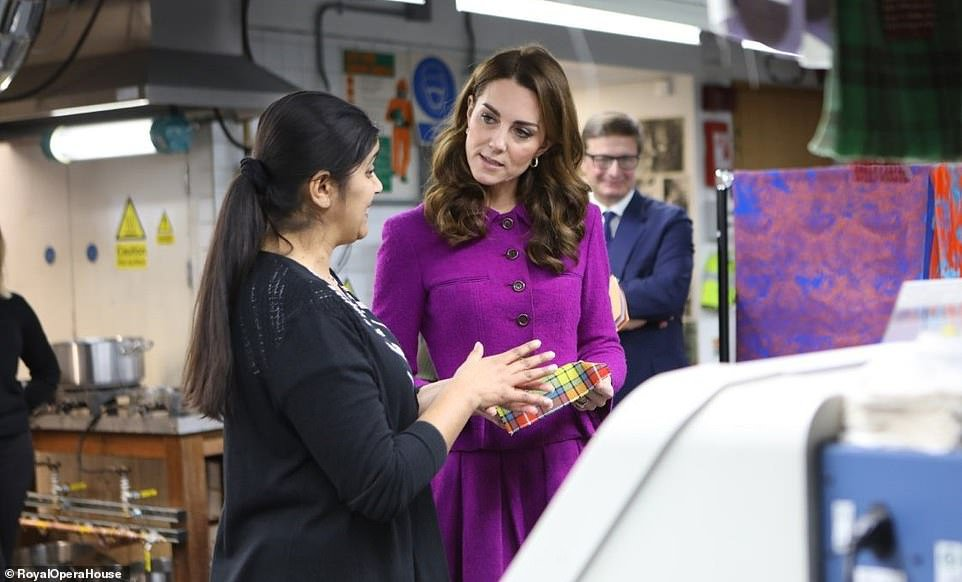 Kate Middleton visits Royal Opera House's costume department | Daily Mail Online