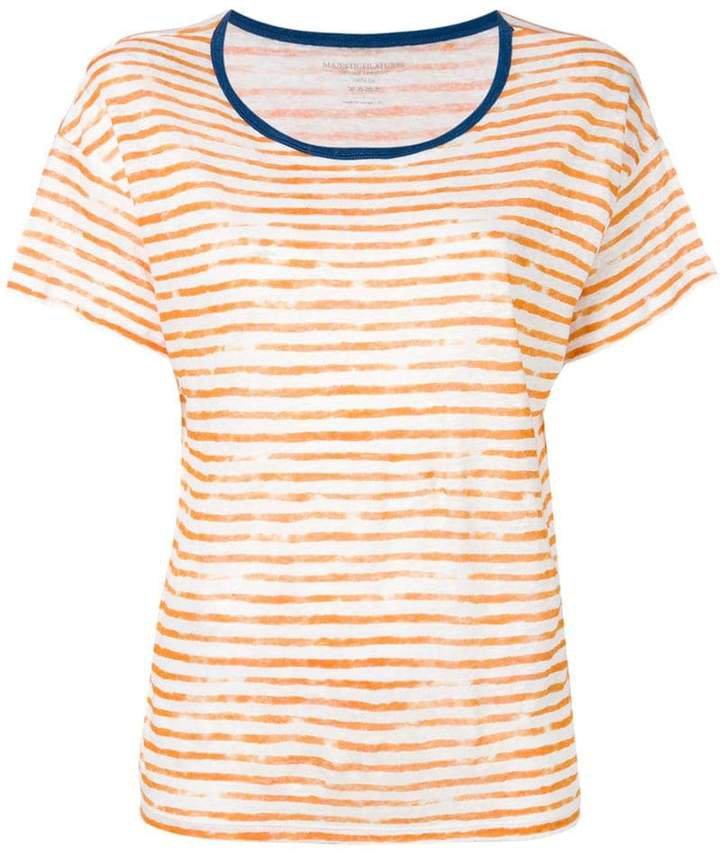 painted stripe T-shirt