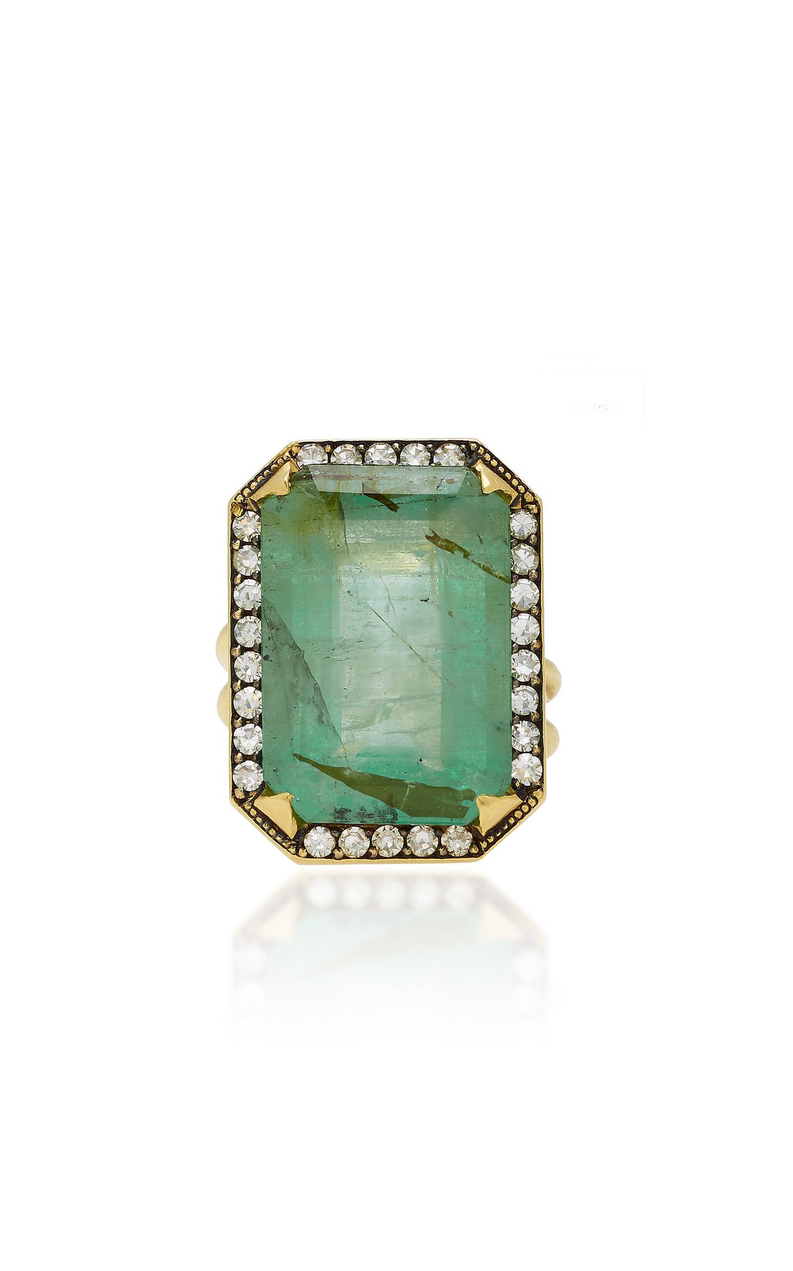 18K Gold, Emerald And Diamond Ring by Sylva & Cie   Moda Operandi