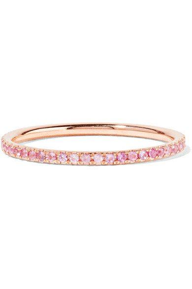 Ileana Makri | Thread 18-karat rose gold sapphire ring | NET-A-PORTER.COM