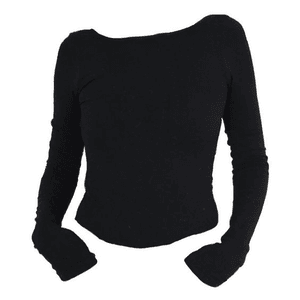 Black Sweater Shirt and Top PNG
