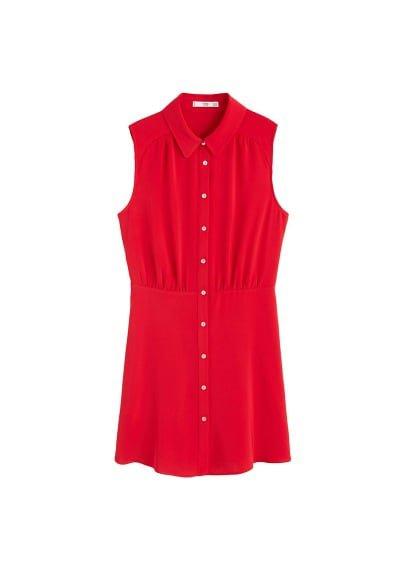 MANGO Flowy shirt dress