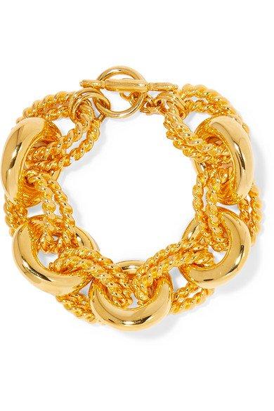 Kenneth Jay Lane | Gold-tone bracelet | NET-A-PORTER.COM