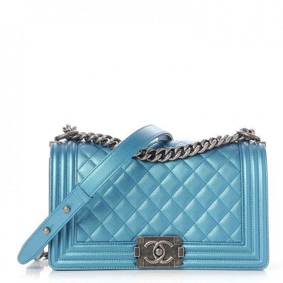 Blue Chanel bag