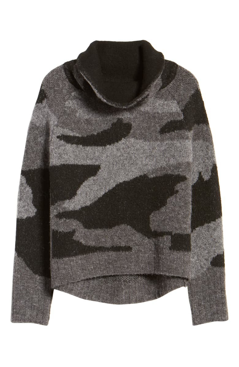 RD Style Camo Print Cowl Neck Sweater | Nordstrom