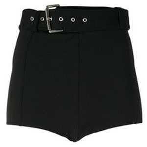 Black Shorts With Belt Attached