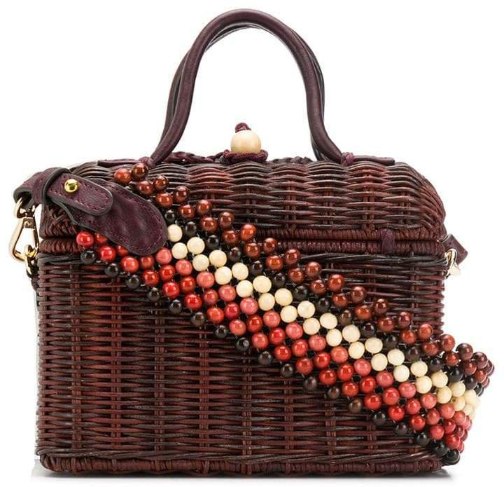 structured woven tote