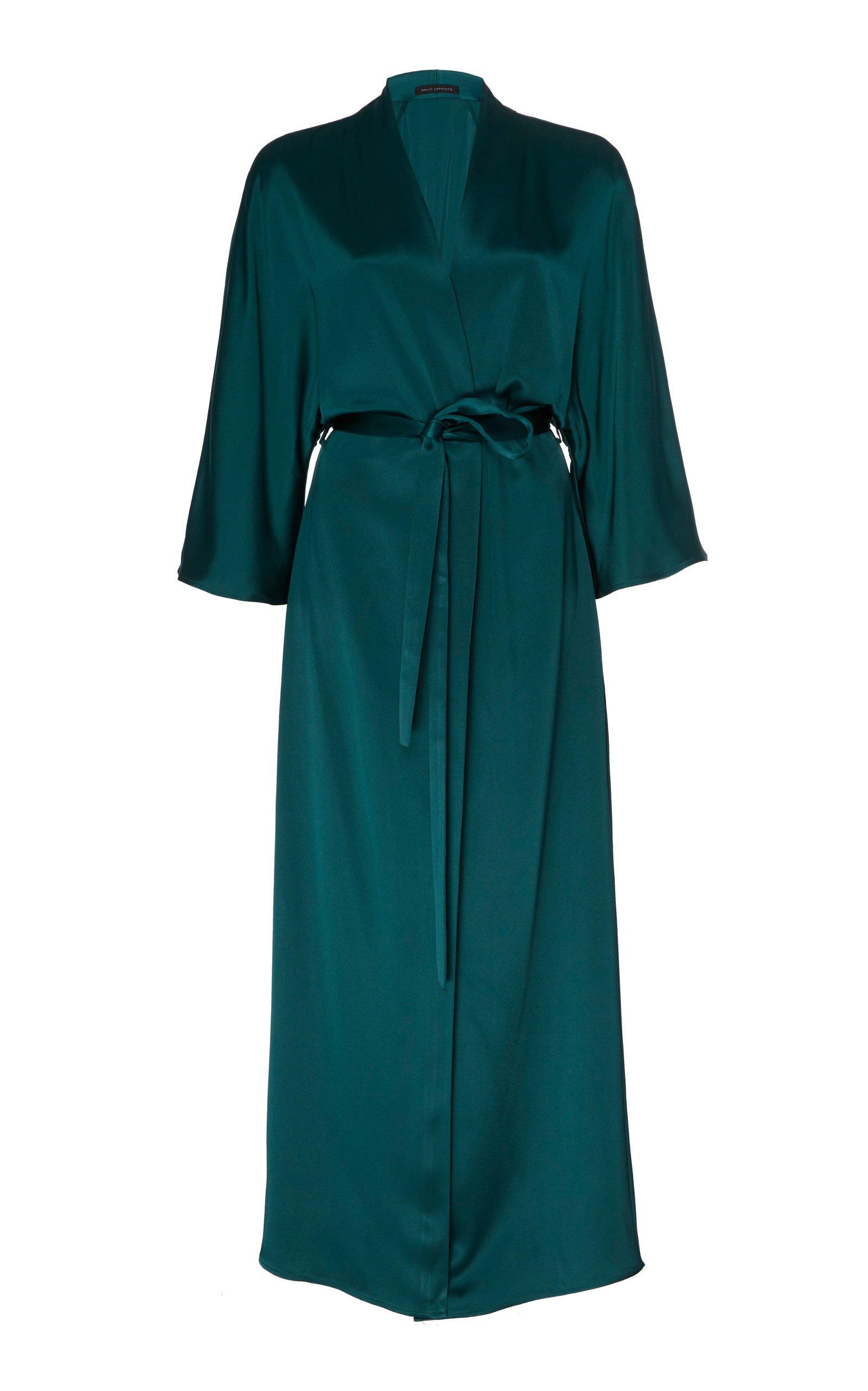 Sally LaPointe Doubleface Satin Kimono Duster