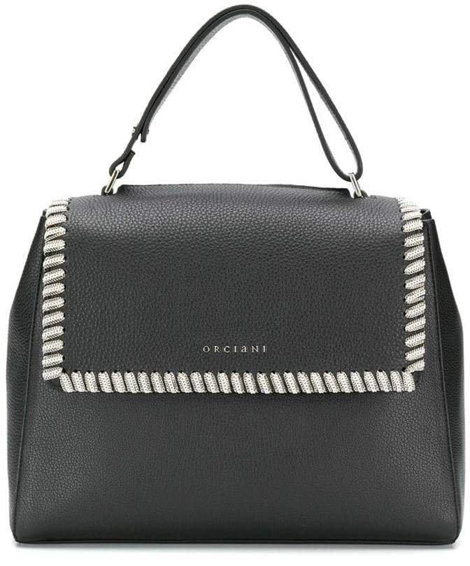 chain embellished tote bag