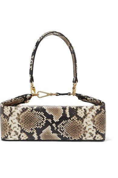 REJINA PYO | Olivia snake-effect leather tote | NET-A-PORTER.COM