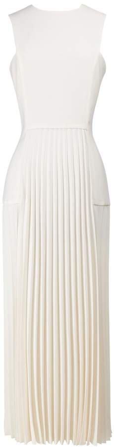 Pleated White Dress