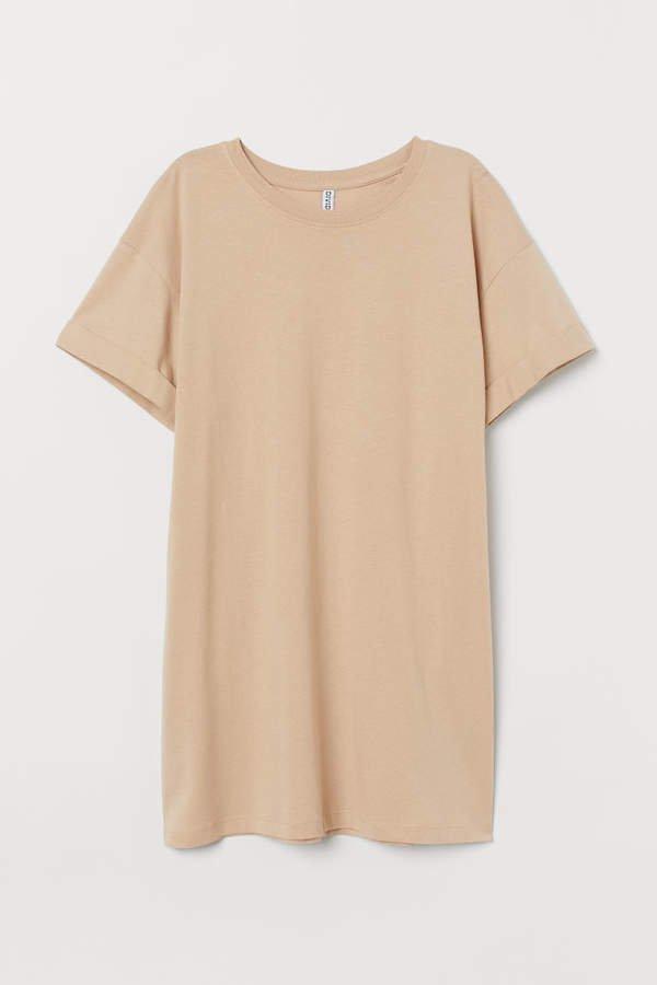 Long T-shirt - Beige