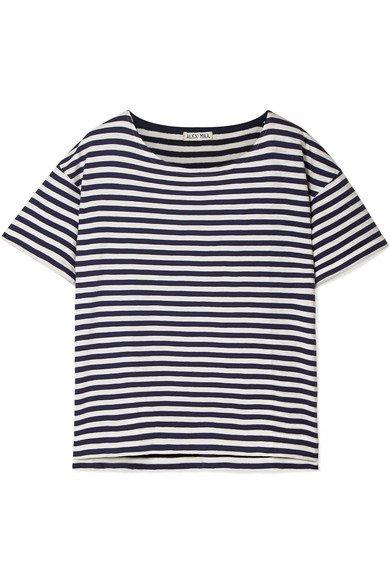 Alex Mill   T-Shirt aus Baumwoll-Jersey mit Streifen   NET-A-PORTER.COM