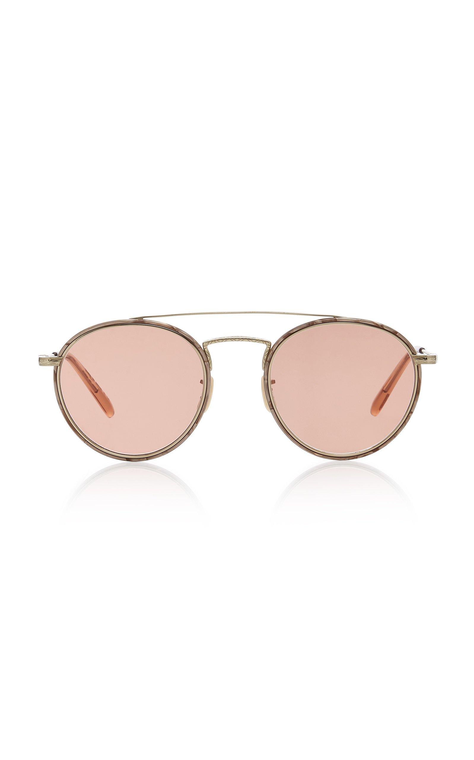 Oliver Peoples Ellice Round-Frame Metal Sunglasses
