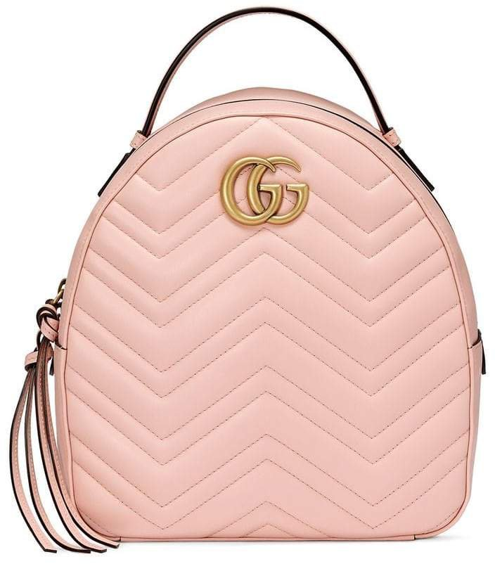 Pink GG Marmont leather backpack