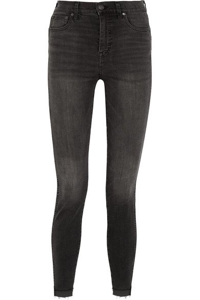 Madewell Frayed high-rise skinny jeans