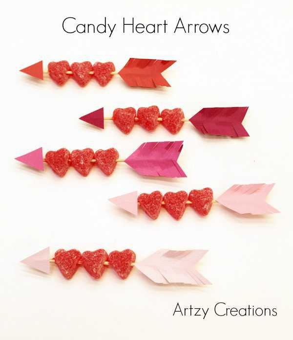 Candy Heart Arrows - artzycreations.com