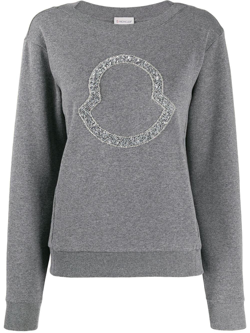 Moncler Beaded Logo Sweatshirt | Farfetch.com