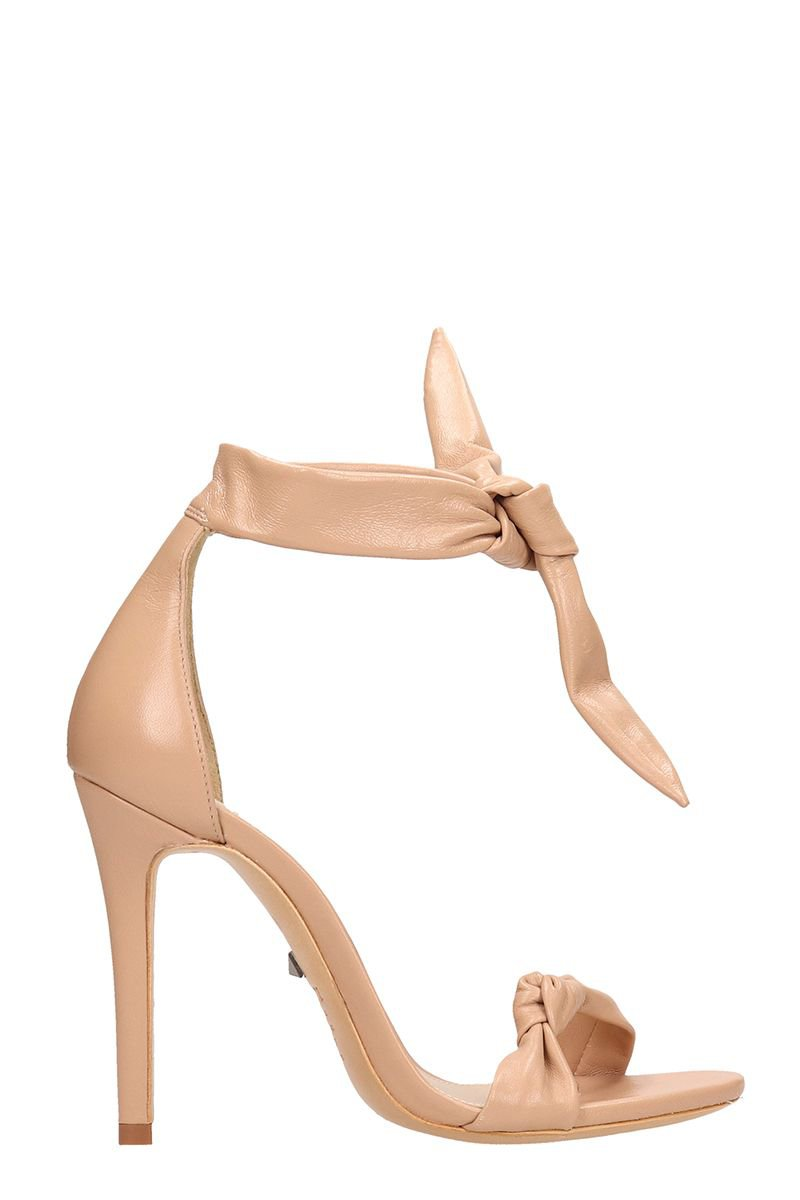 Schutz Knot Nude Calf Leather Sandals