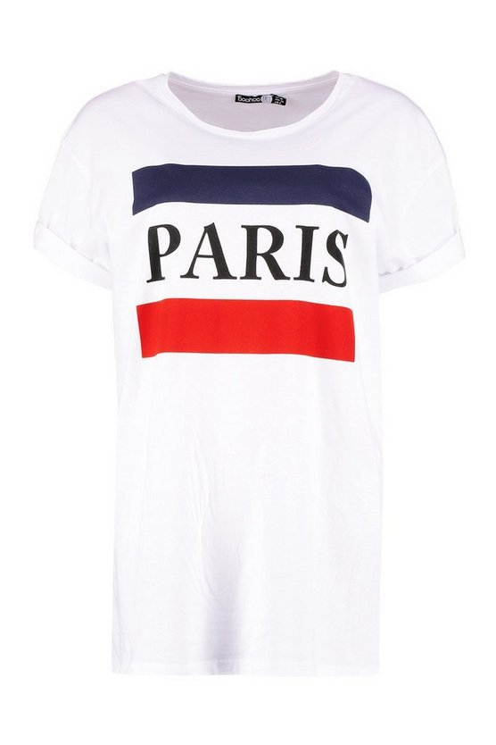 Tall Paris Slogan T-Shirt | Boohoo