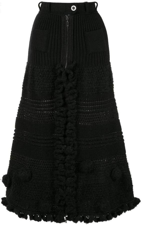 Pre-Owned CC logos skirt
