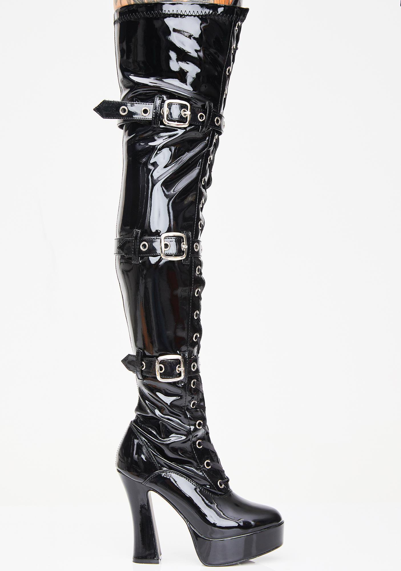 Pleaser Made For Sin Thigh High Boots | Dolls Kill