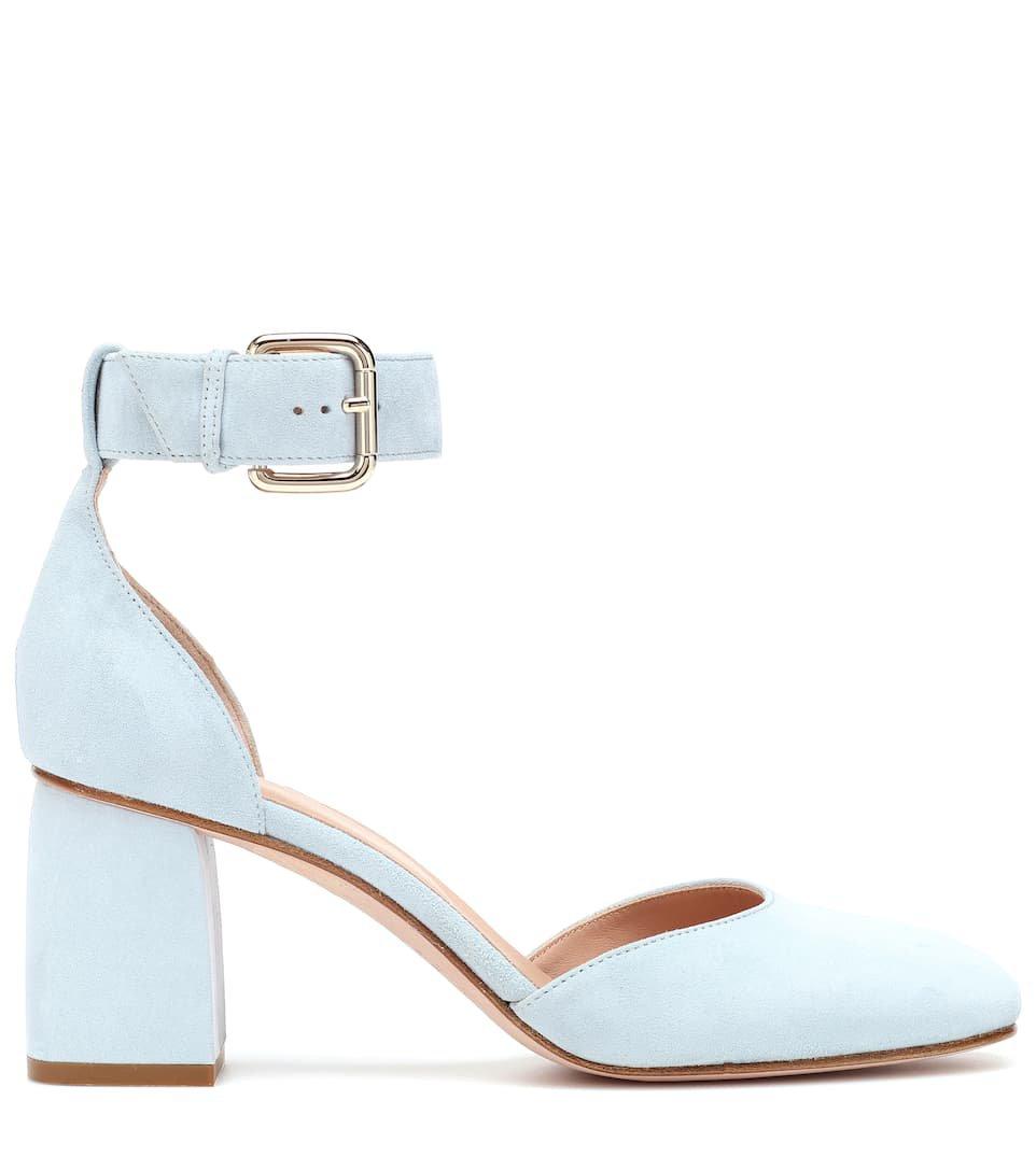 REDValentino - RED (V) suede block heel pumps | Mytheresa