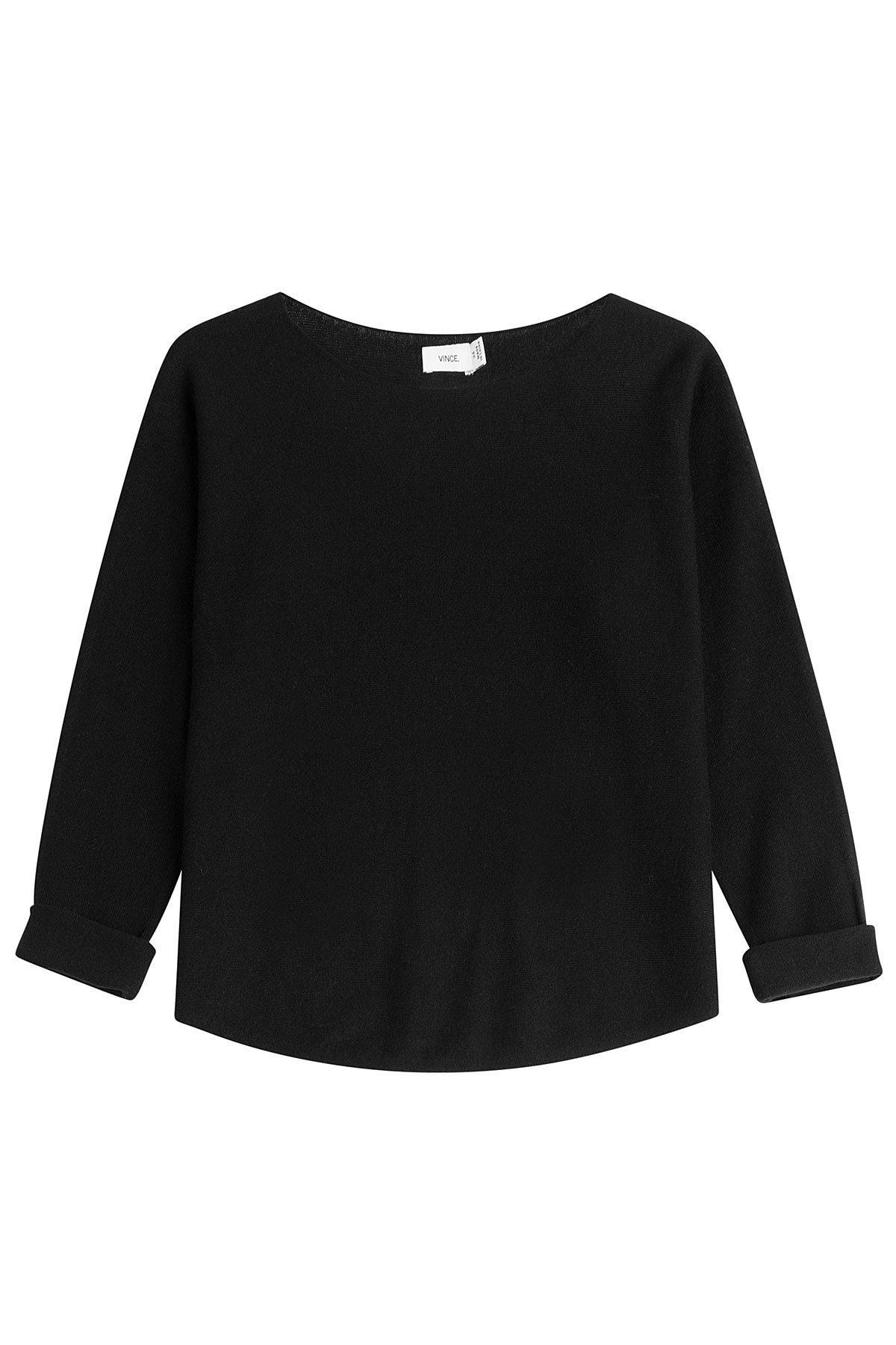Cropped Boatneck Cashmere Pullover Gr. S