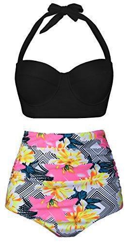 Angerella-Women-Vintage-Polka-Dot-High-Waisted-Bathing-Suits-Bikini-0-0.jpg (264×500)