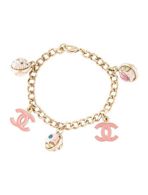 Chanel Fabric Bead CC Charm Bracelet - Bracelets - CHA326197   The RealReal