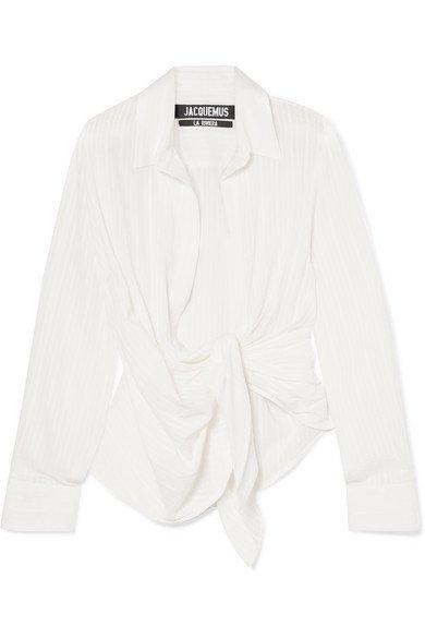 Jacquemus | Bahia gathered cotton-blend jacquard top | NET-A-PORTER.COM