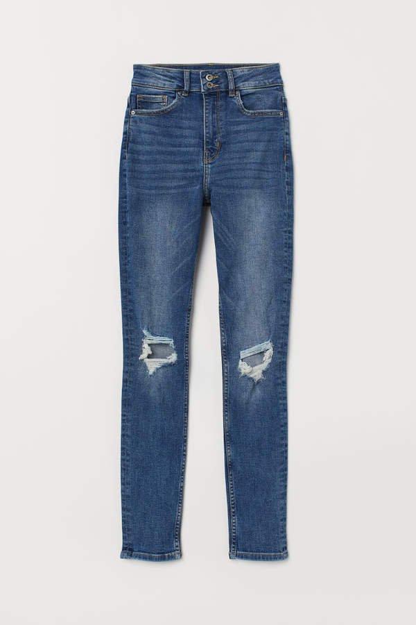 Skinny High Waist Jeans - Blue