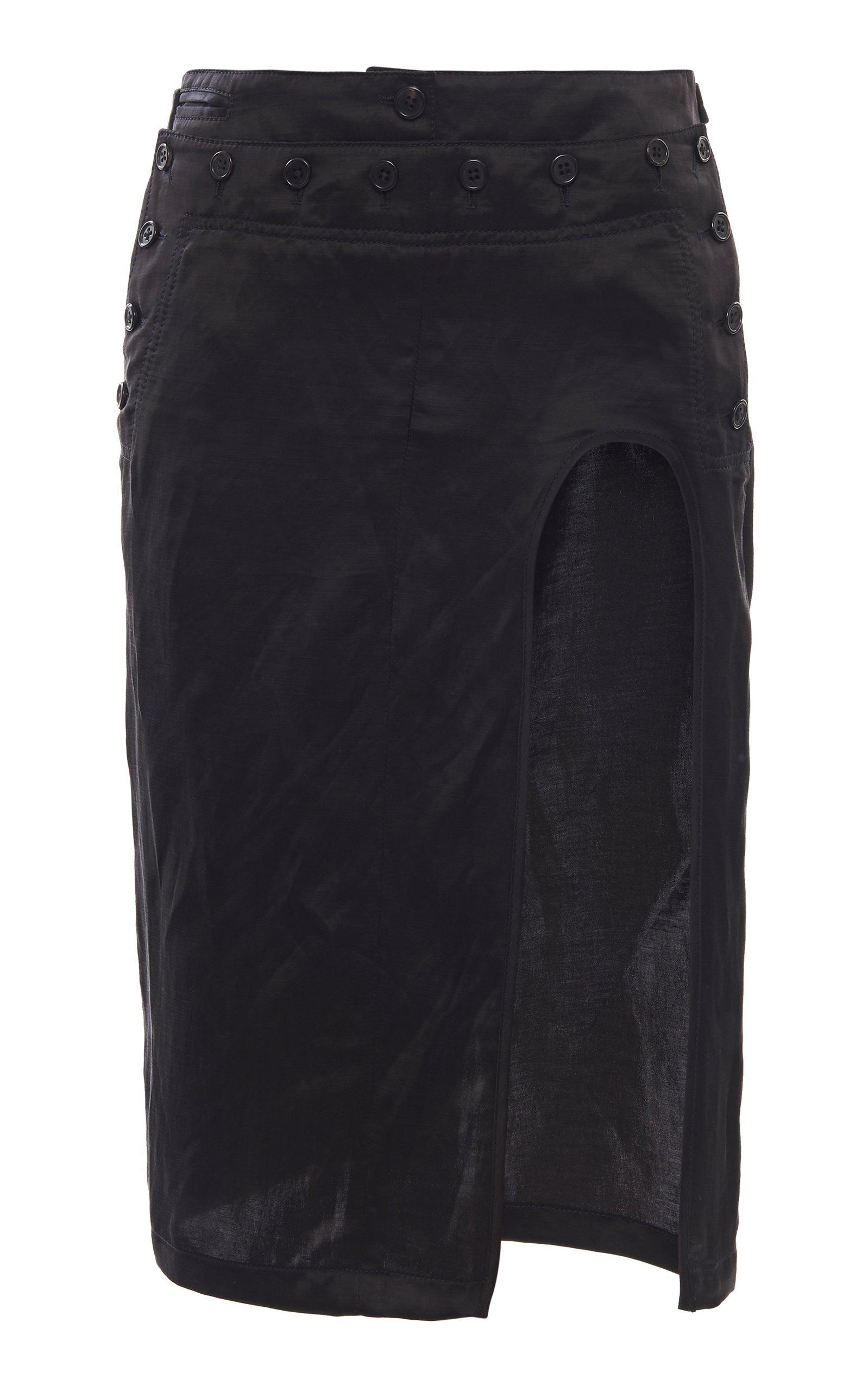 Ann Demeulemeester Cutout Satin Skirt Size: 42
