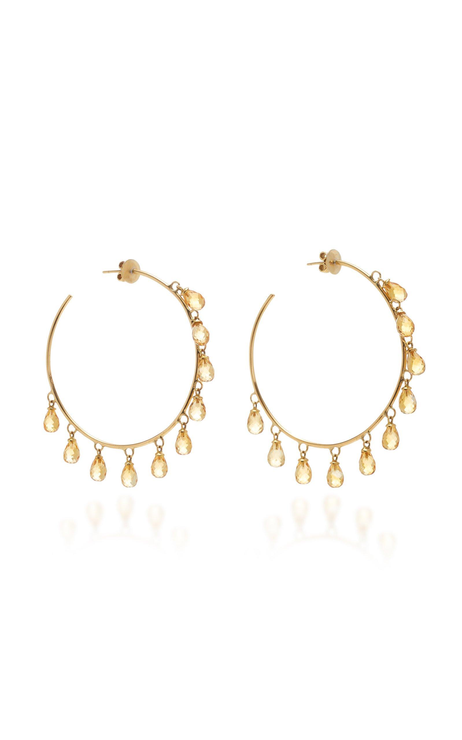 Giovane 18K Gold and Citrine Earrings