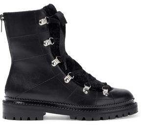 Ida Shearling-lined Leather Ankle Boots