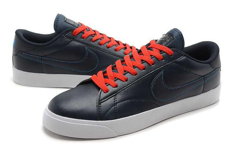 new styles 06324 56b81 Clearance Men's Black/Orange Red/White Nike Blazer Low ...