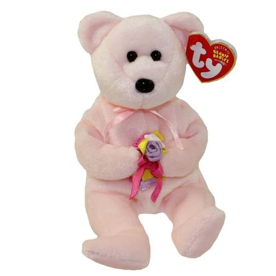 TY Beanie Baby - DEAR the Bear (Hallmark Gold Crown Exclusive) (8.5 inch): BBToyStore.com - Toys, Plush, Trading Cards, Action Figures & Games online retail store shop sale
