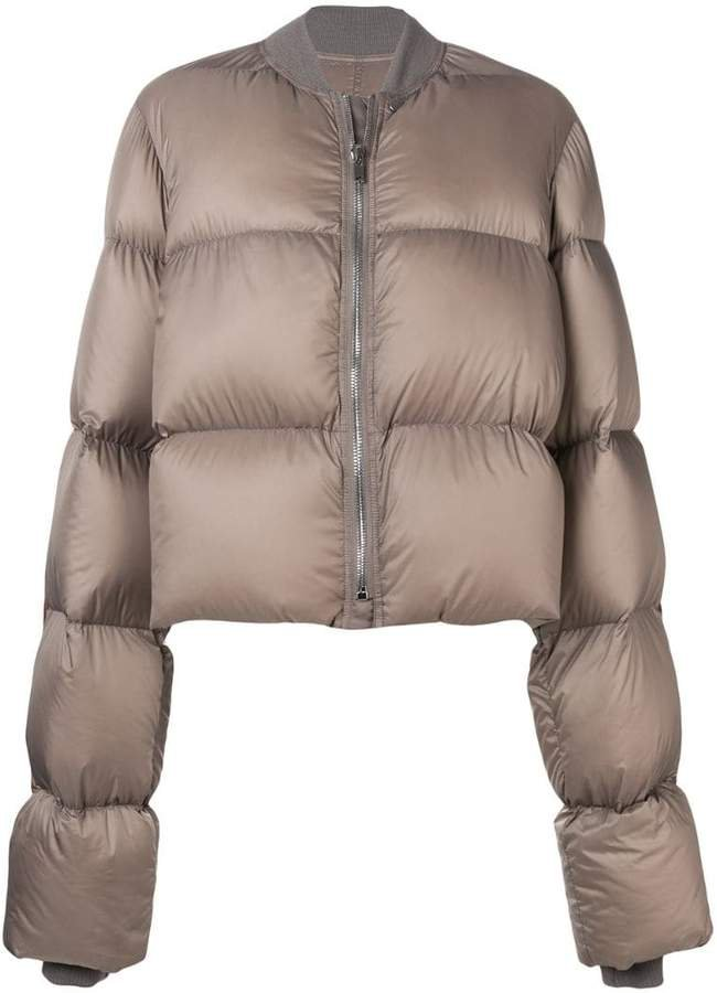 cropped duvet puffer jacket