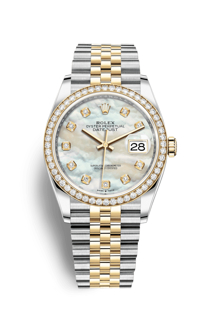 Rolex Datejust 36 Watch: Yellow Rolesor - combination of Oystersteel and 18 ct yellow gold - M126283RBR-0009