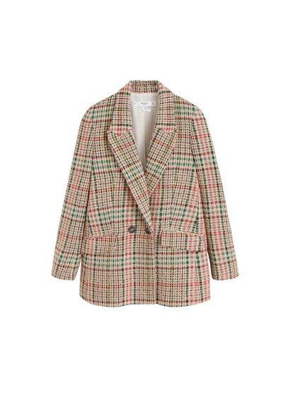 MANGO Multicolor check blazer