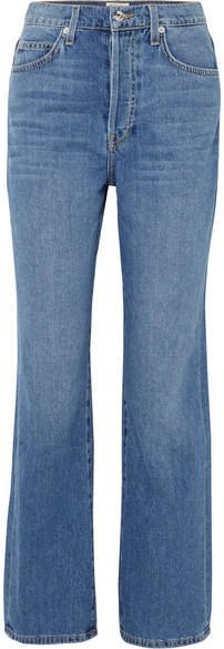 Juliette High-rise Straight-leg Jeans - Light denim