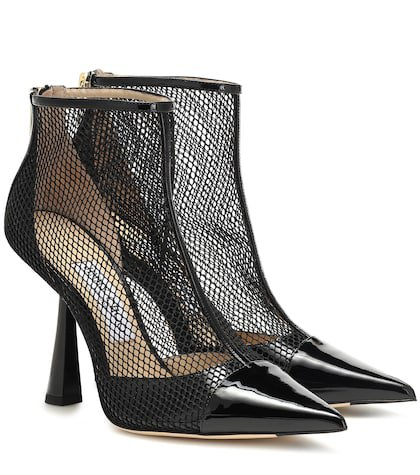 Kix 100 leather and mesh ankle boots