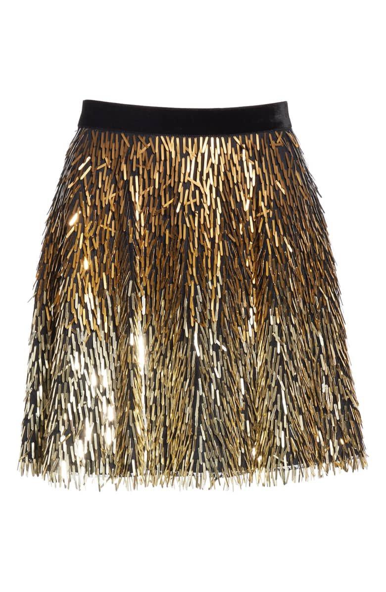 Alice + Olivia Cina Embellished Miniskirt | Nordstrom