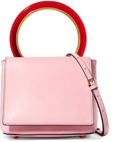 Pannier Leather Shoulder Bag - Blush