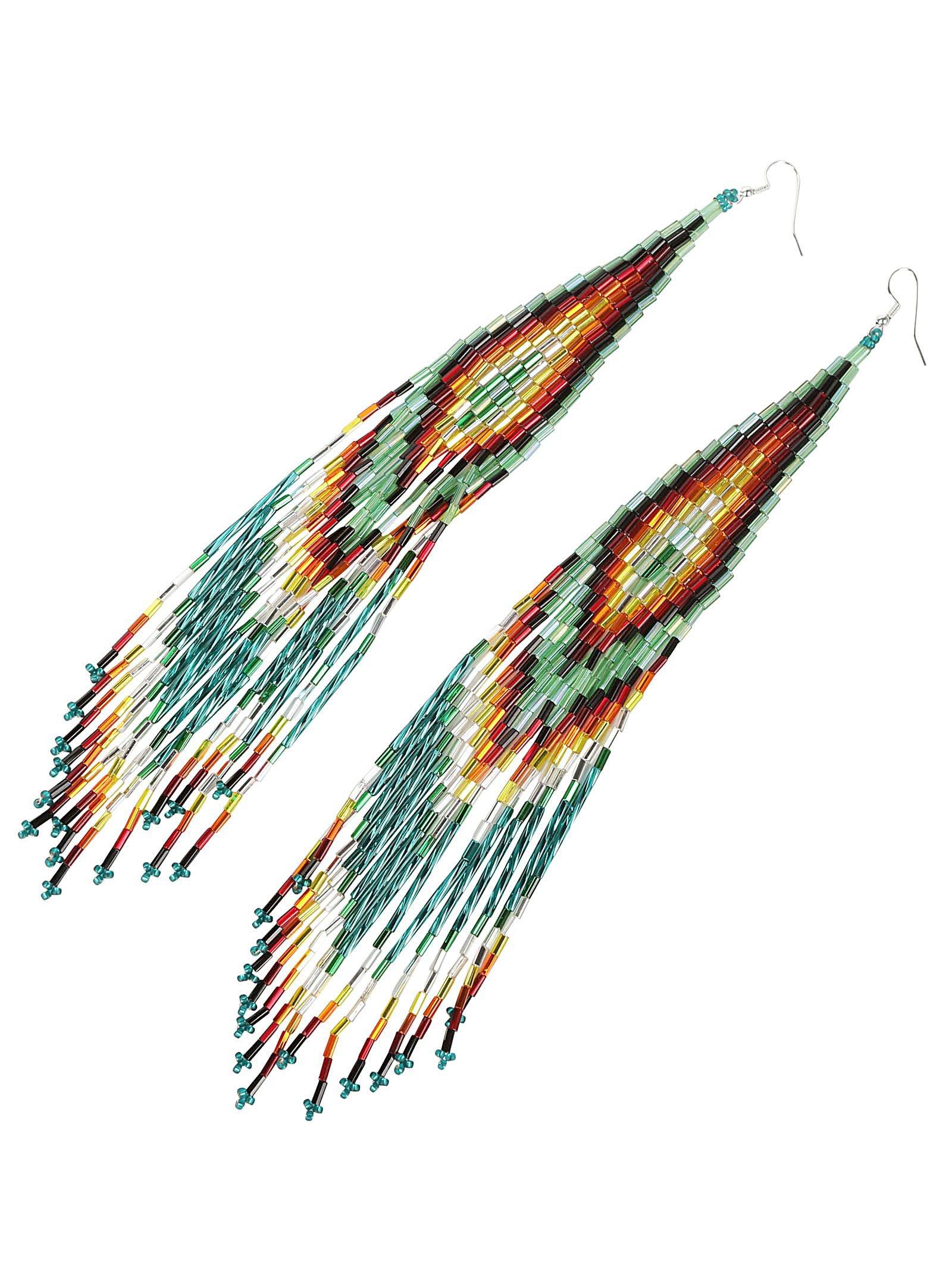 Jessie Western Long Beaded Earring