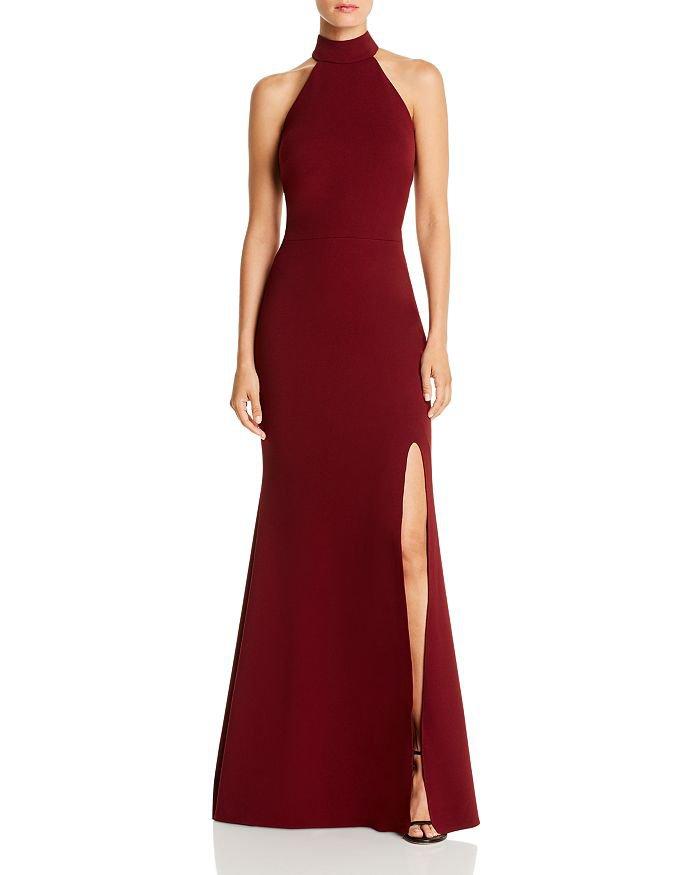 AQUA Halter-Neck Gown - 100% Exclusive | Bloomingdale's