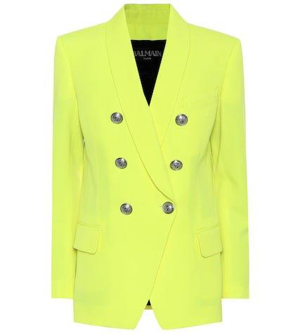 Neon wool blazer